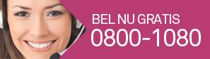 Bel nu gratis 0800-1080